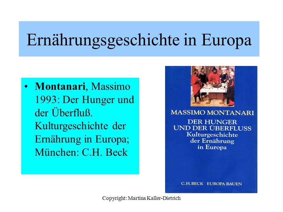 Ernährungsgeschichte in Europa