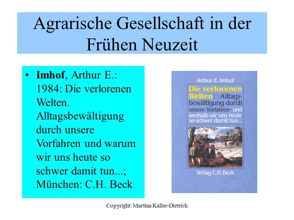 Agrarische Gesellschaft in der Frühen Neuzeit
