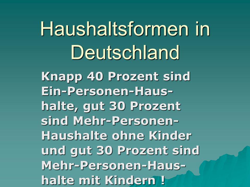 Haushaltsformen in Deutschland