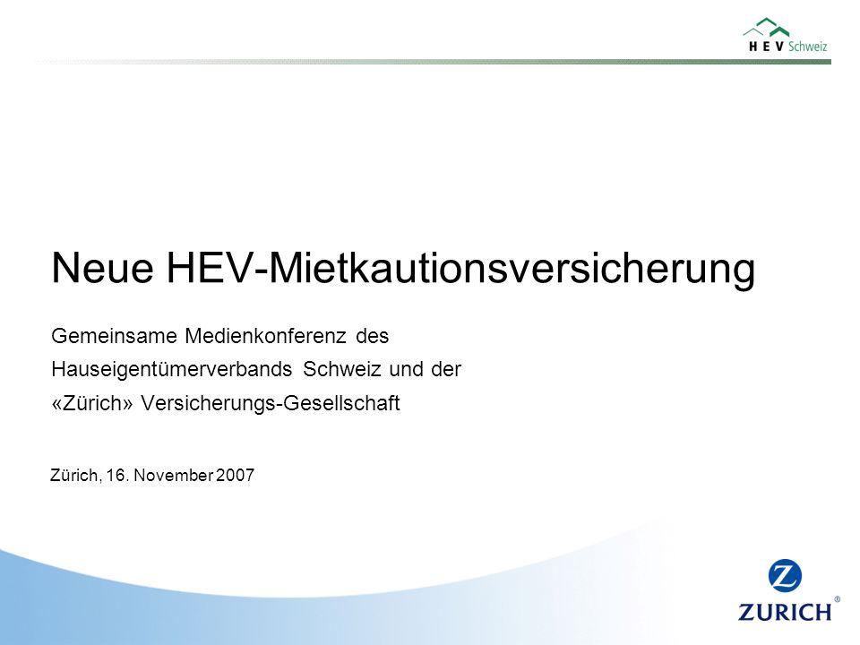 Neue HEV-Mietkautionsversicherung