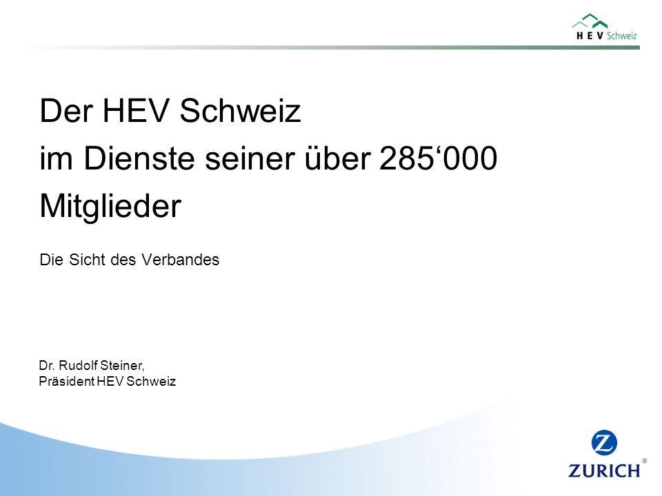 Der HEV Schweiz im Dienste seiner über 285'000 Mitglieder