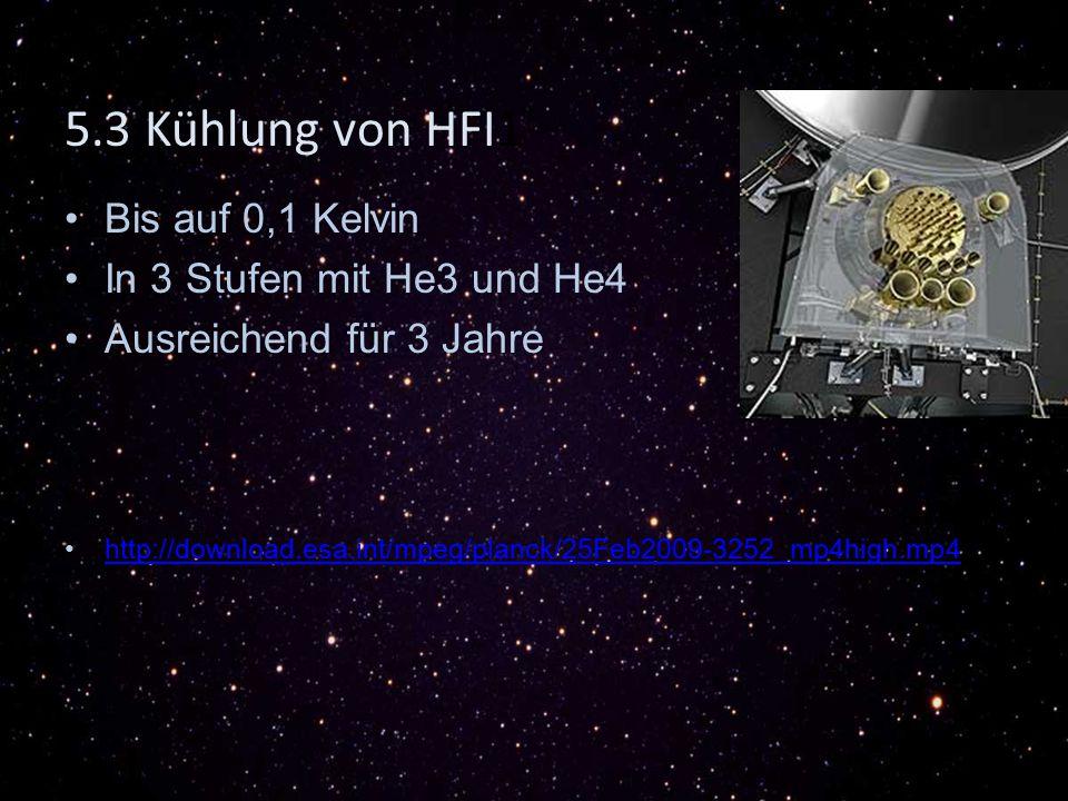5.3 Kühlung von HFI1 Bis auf 0,1 Kelvin In 3 Stufen mit He3 und He4