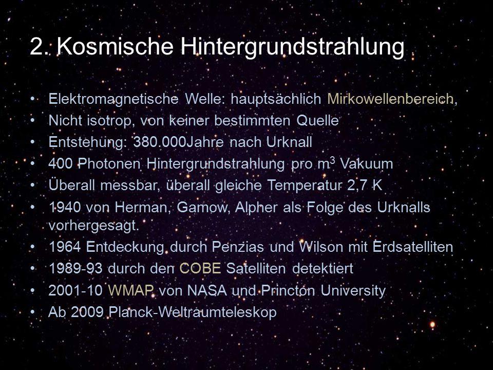 2. Kosmische Hintergrundstrahlung