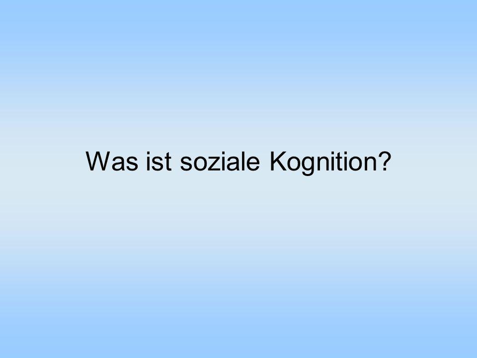 Was ist soziale Kognition