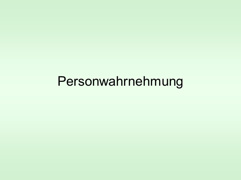 Personwahrnehmung