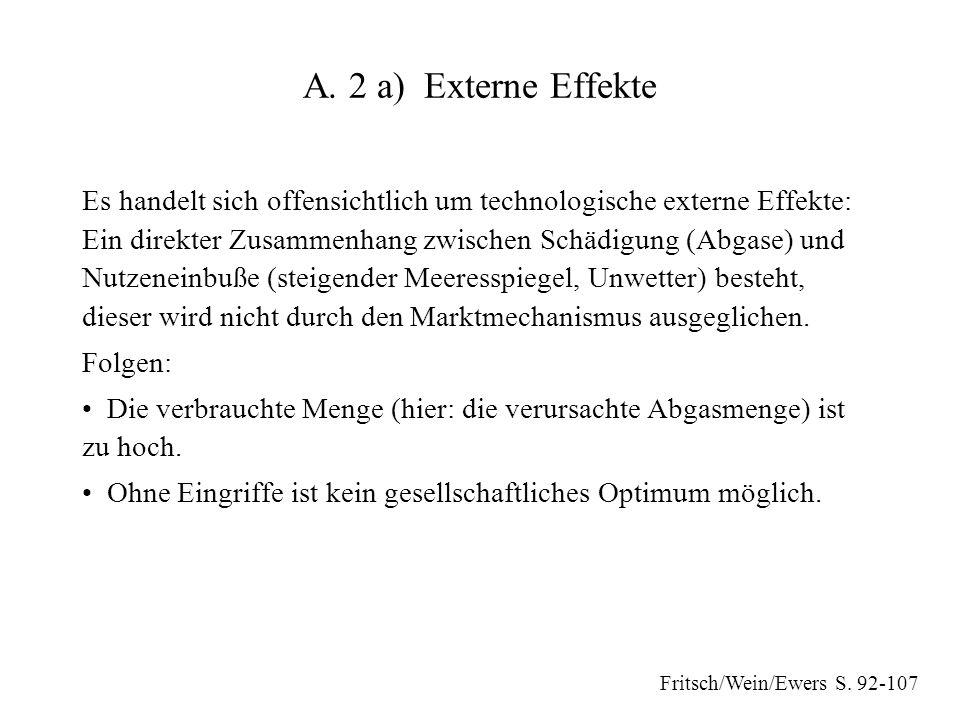 A. 2 a) Externe Effekte