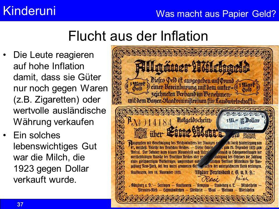 Flucht aus der Inflation