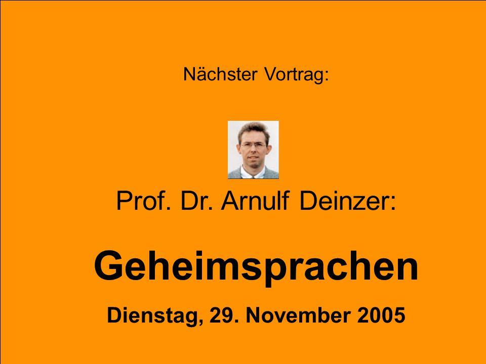 Prof. Dr. Arnulf Deinzer:
