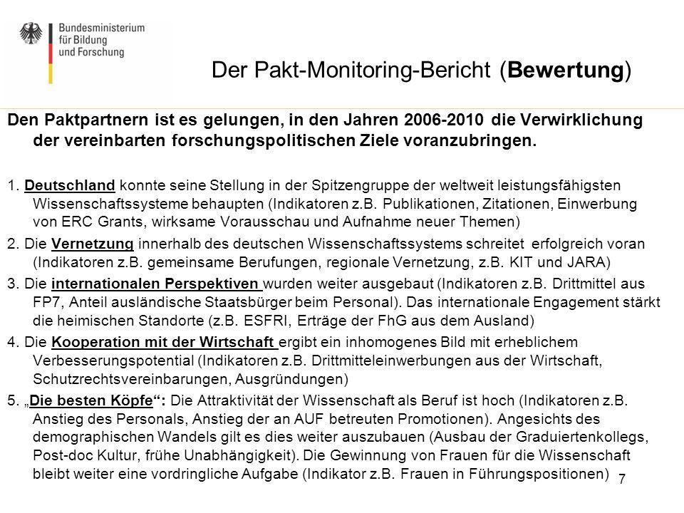 Der Pakt-Monitoring-Bericht (Bewertung)
