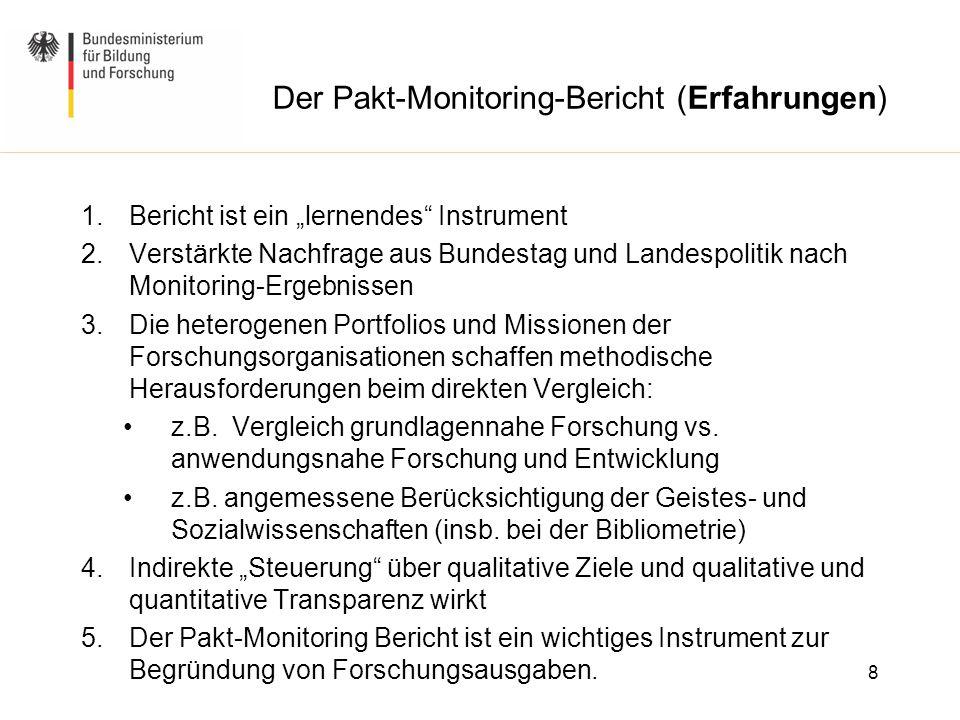 Der Pakt-Monitoring-Bericht (Erfahrungen)