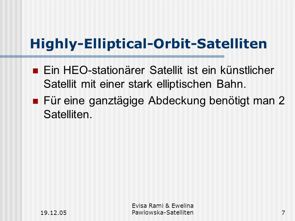 Highly-Elliptical-Orbit-Satelliten