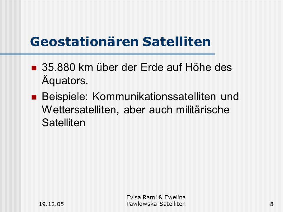Geostationären Satelliten