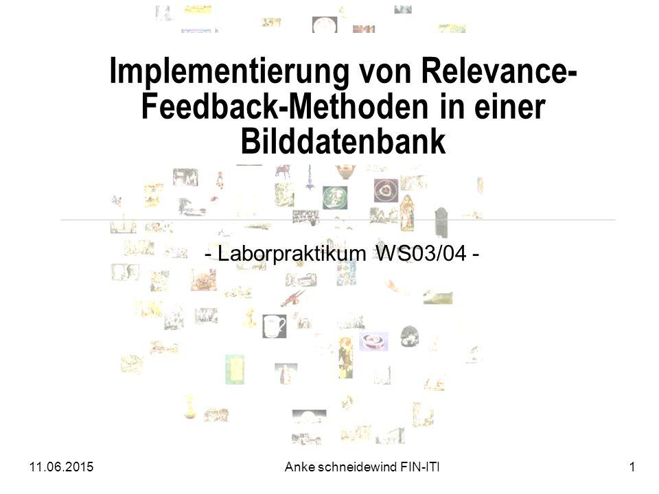 Implementierung von Relevance-Feedback-Methoden in einer Bilddatenbank