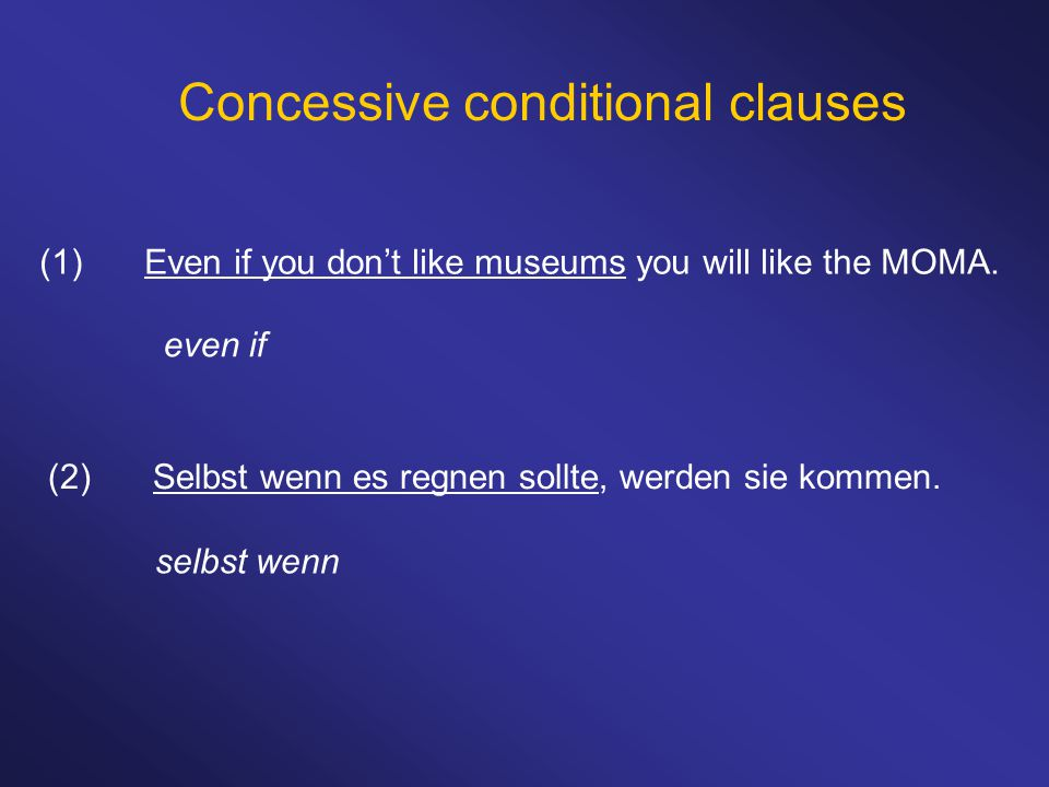 Concessive conditional clauses