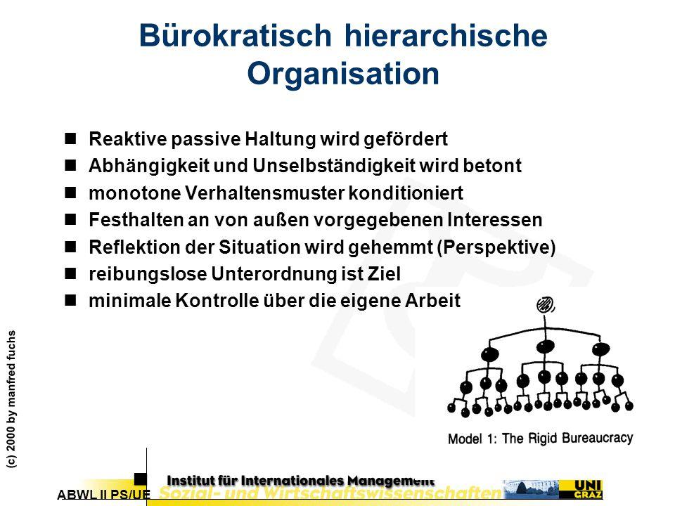 Bürokratisch hierarchische Organisation