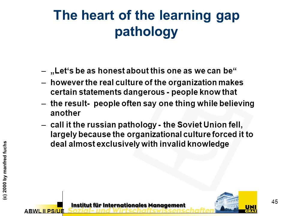 The heart of the learning gap pathology