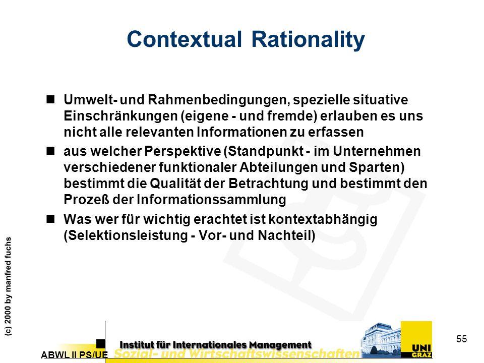 Contextual Rationality