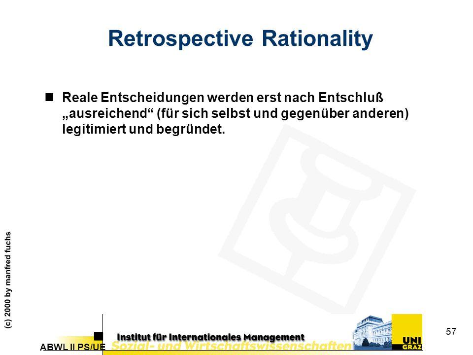 Retrospective Rationality