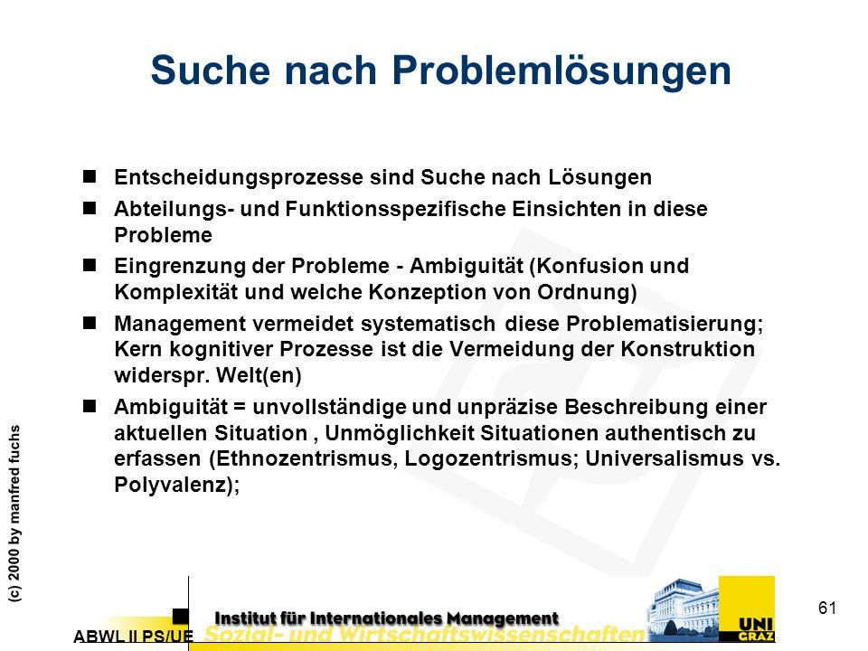 Suche nach Problemlösungen