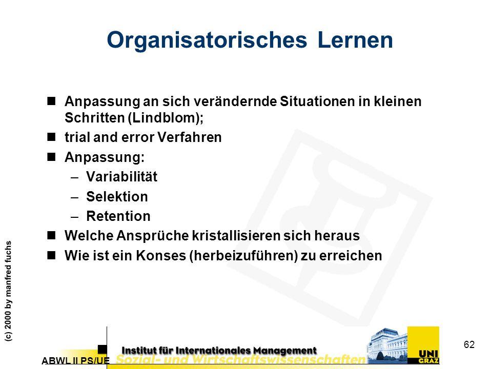 Organisatorisches Lernen