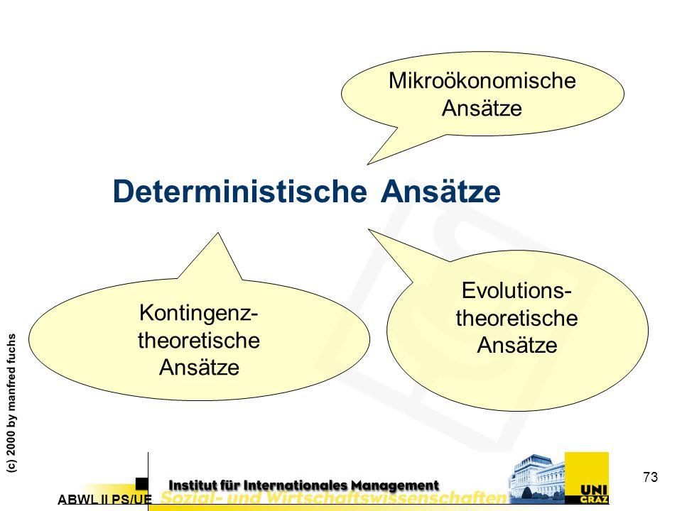 Deterministische Ansätze
