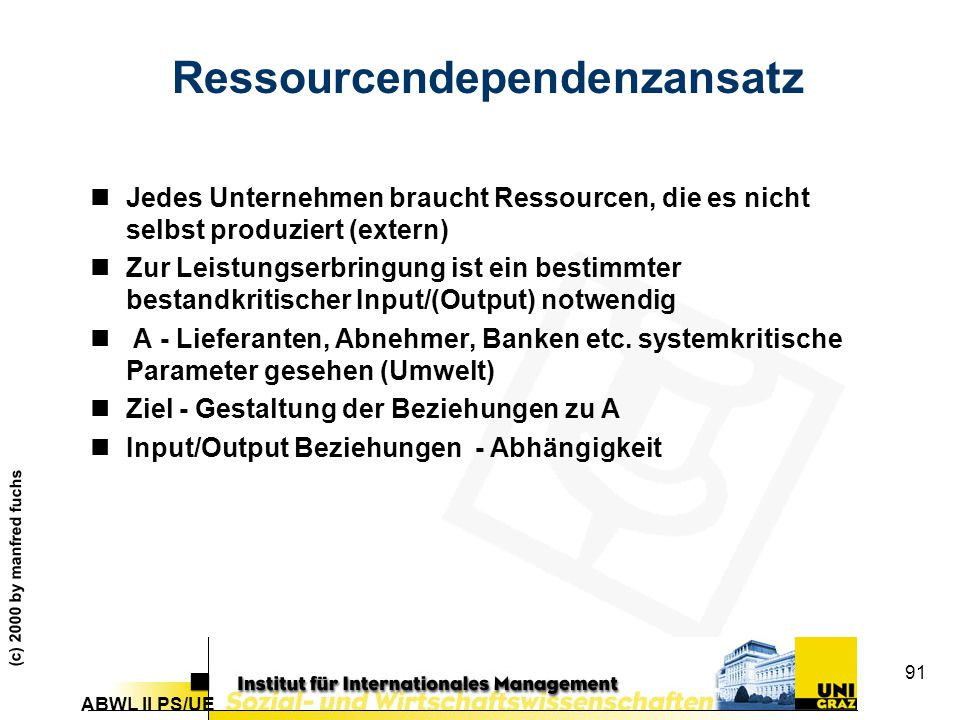 Ressourcendependenzansatz