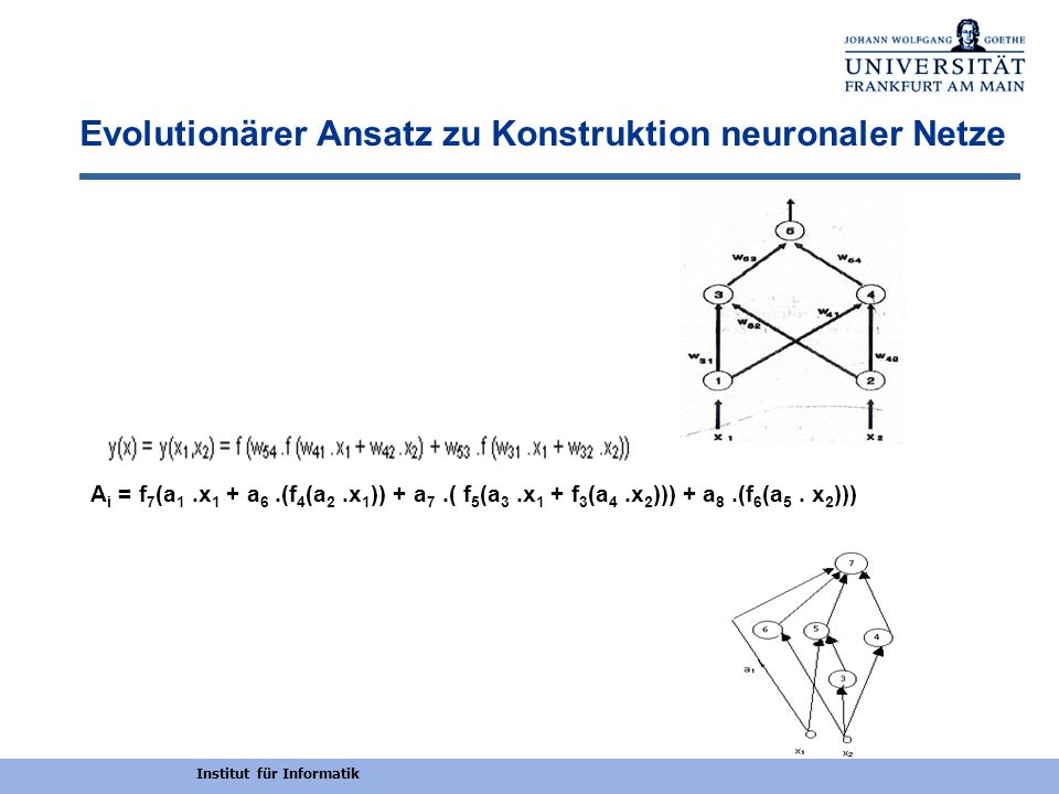 Evolutionärer Ansatz zu Konstruktion neuronaler Netze