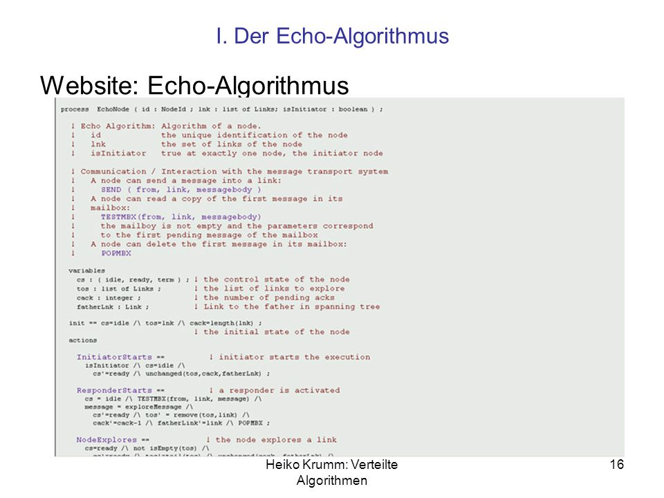 Website: Echo-Algorithmus