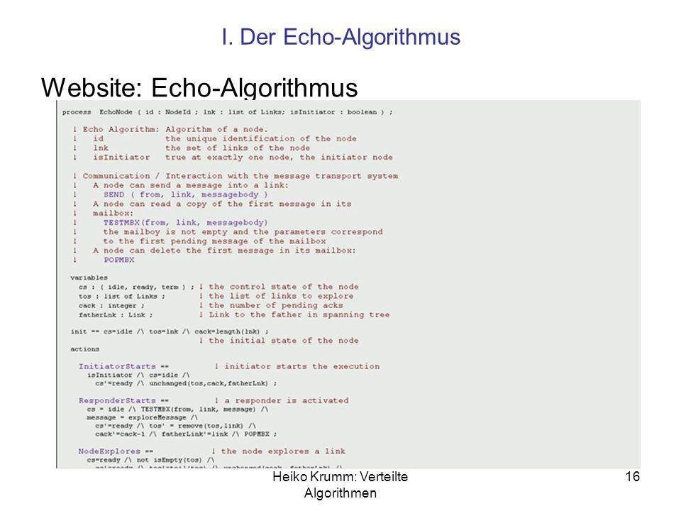 Website: Echo-Algorithmus