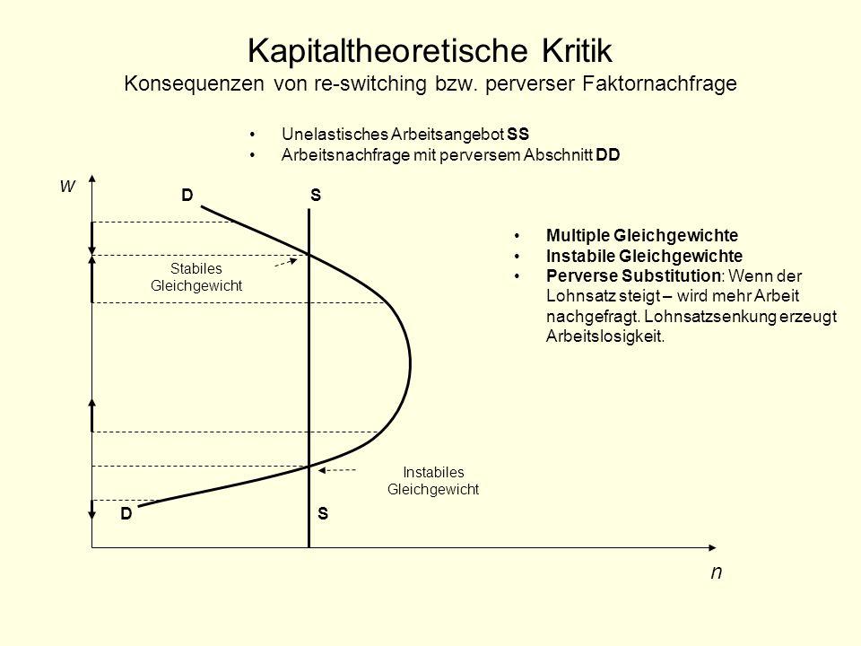 Kapitaltheoretische Kritik Konsequenzen von re-switching bzw