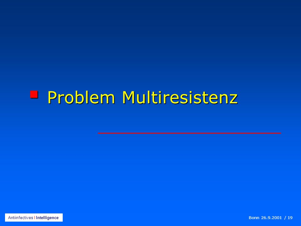 Problem Multiresistenz