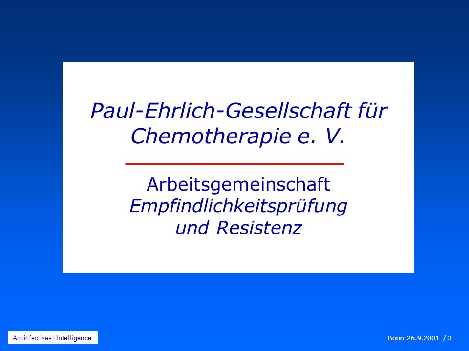Paul-Ehrlich-Gesellschaft für Chemotherapie e. V