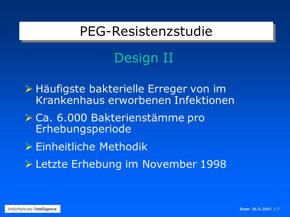 PEG-Resistenzstudie Design II