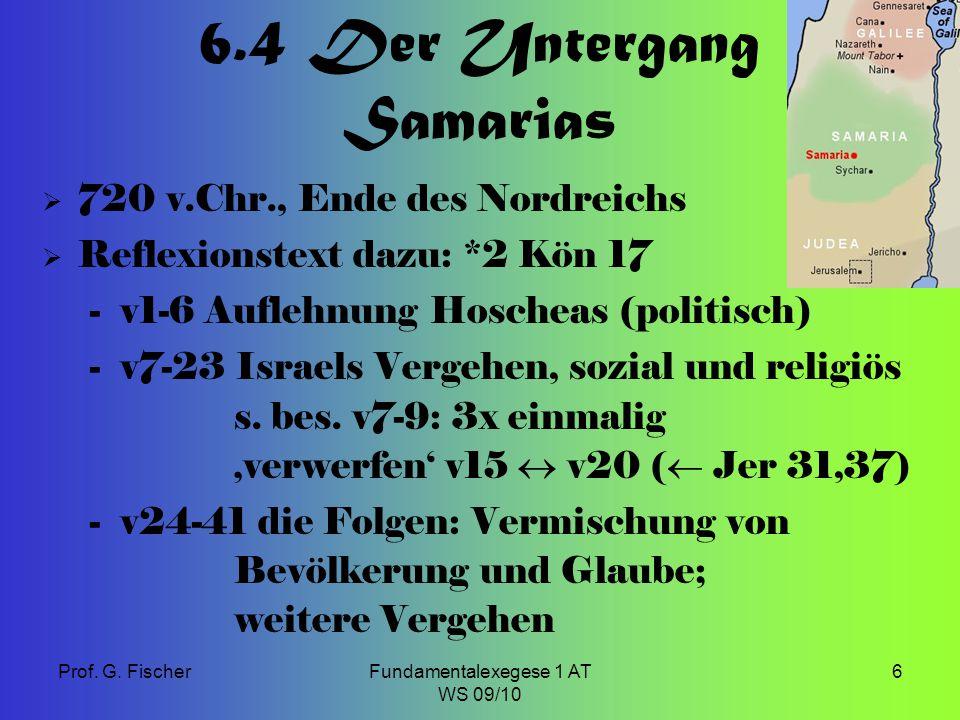 6.4 Der Untergang Samarias