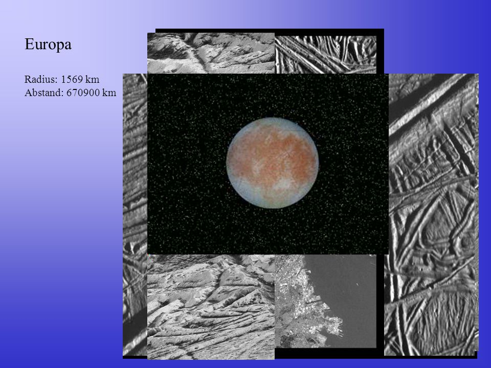 Europa Radius: 1569 km Abstand: 670900 km