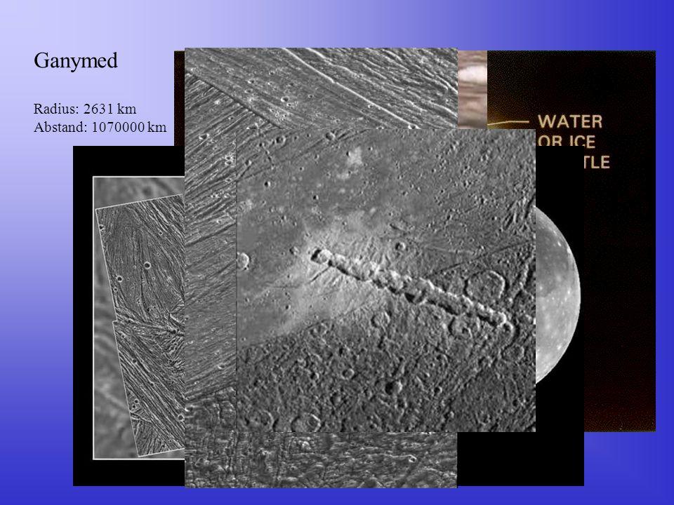 Ganymed Radius: 2631 km Abstand: 1070000 km