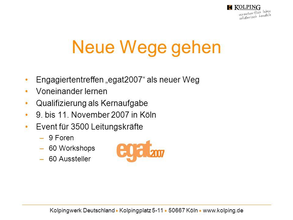 """Neue Wege gehen Engagiertentreffen """"egat2007 als neuer Weg"""