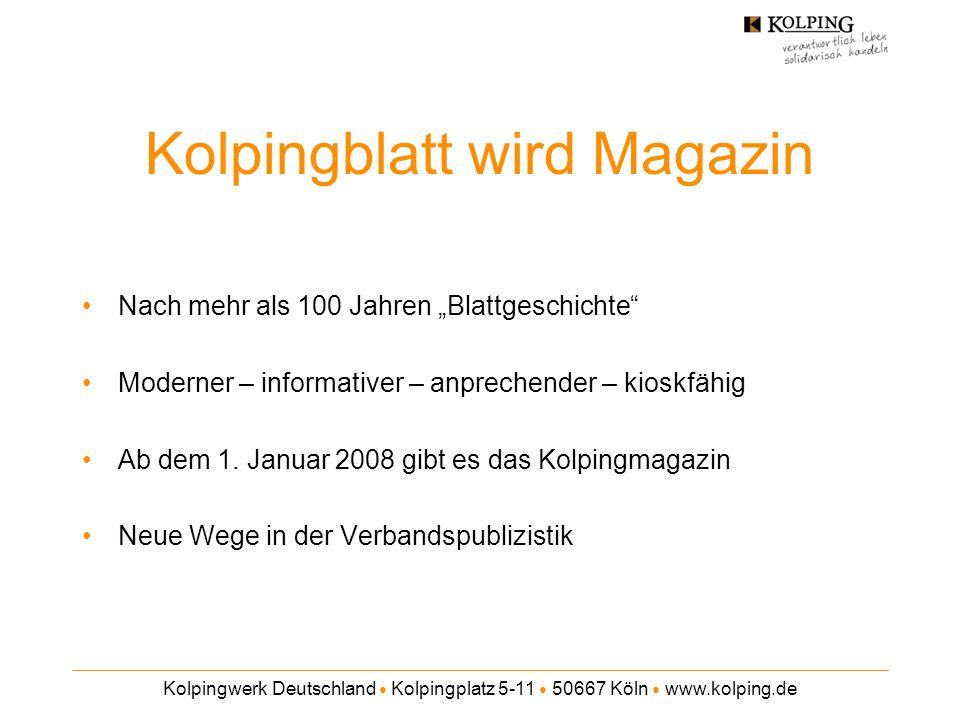 Kolpingblatt wird Magazin