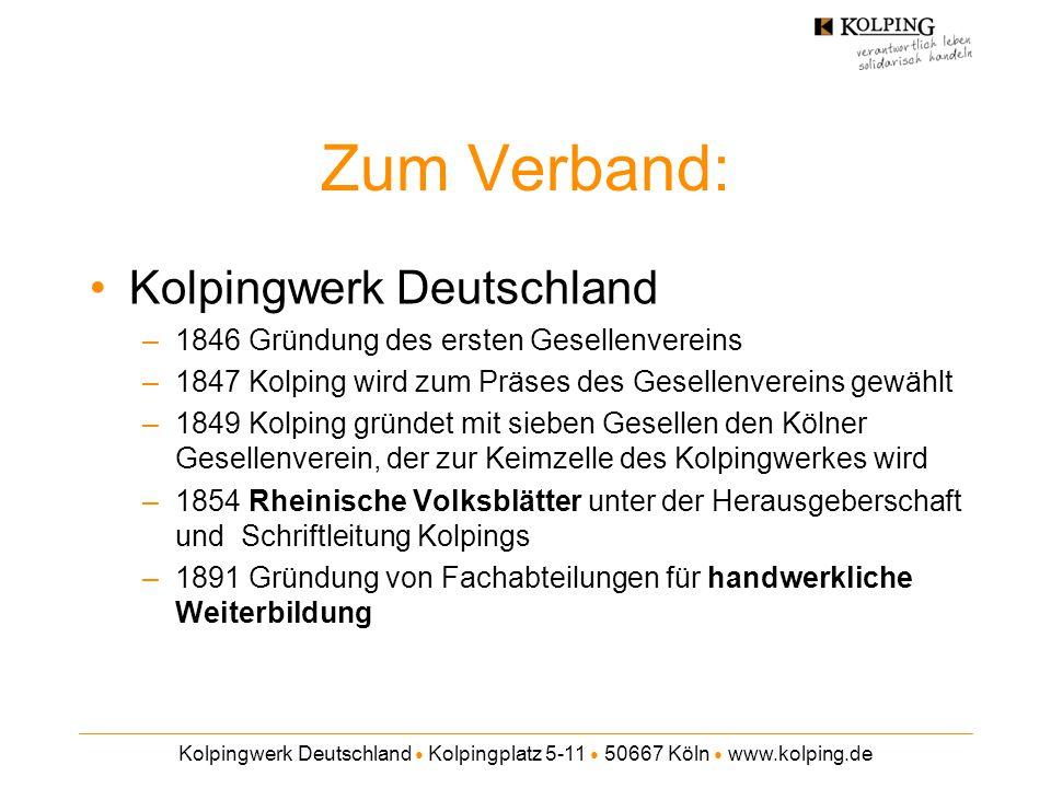 Zum Verband: Kolpingwerk Deutschland