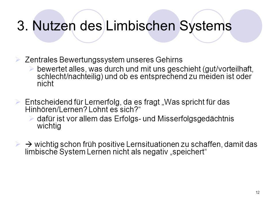 3. Nutzen des Limbischen Systems