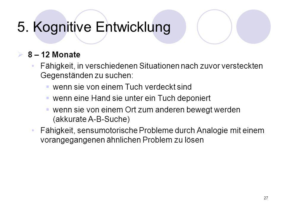 5. Kognitive Entwicklung
