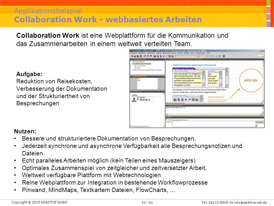 Applikationsbeispiel Collaboration Work - webbasiertes Arbeiten