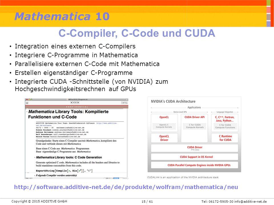 C-Compiler, C-Code und CUDA
