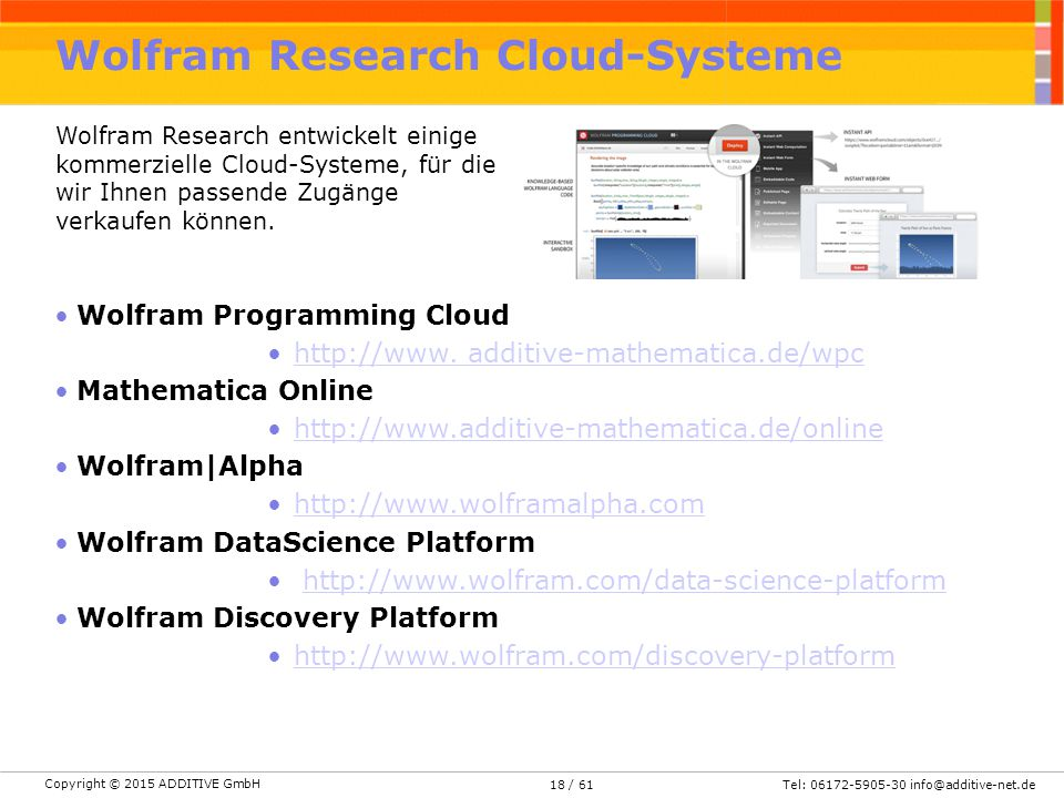 Wolfram Research Cloud-Systeme
