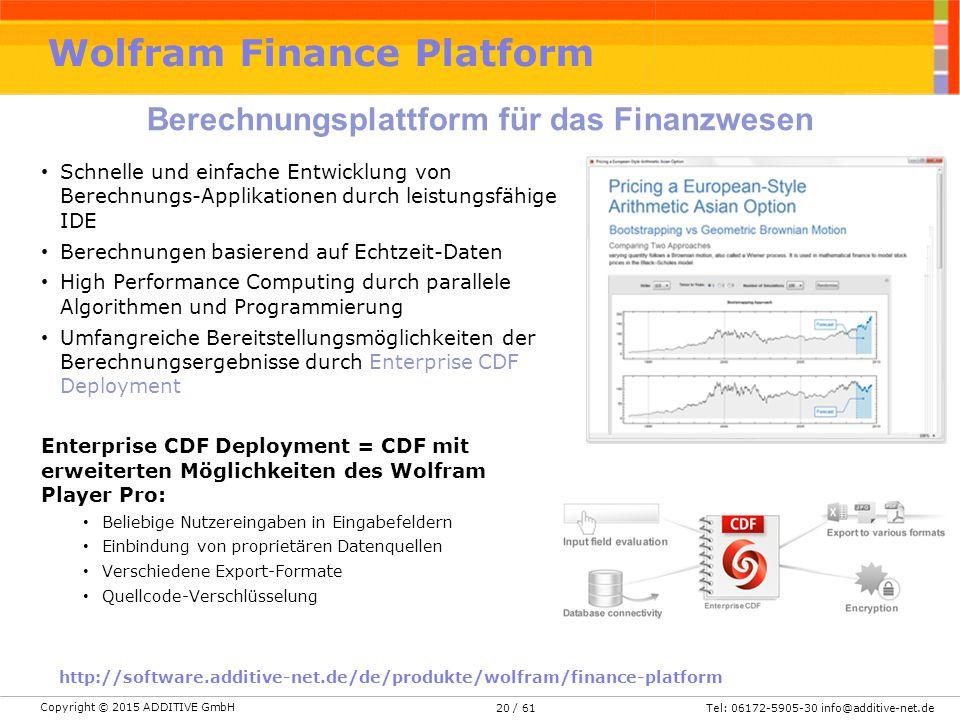 Wolfram Finance Platform