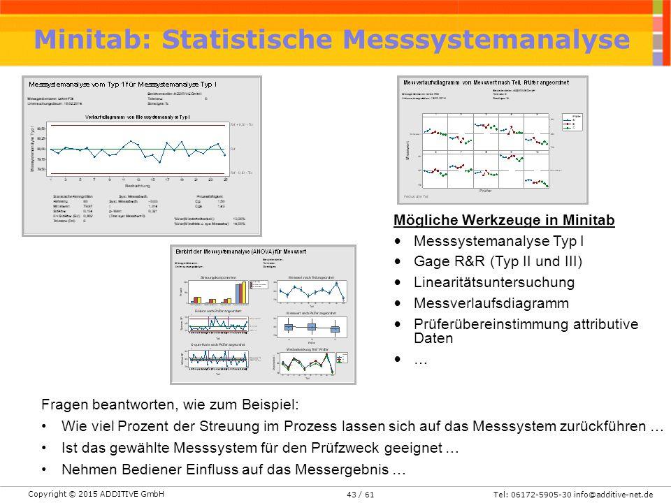 Minitab: Statistische Messsystemanalyse