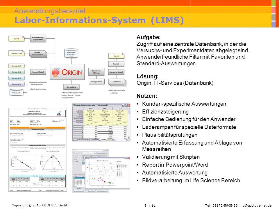 Anwendungsbeispiel Labor-Informations-System (LIMS)