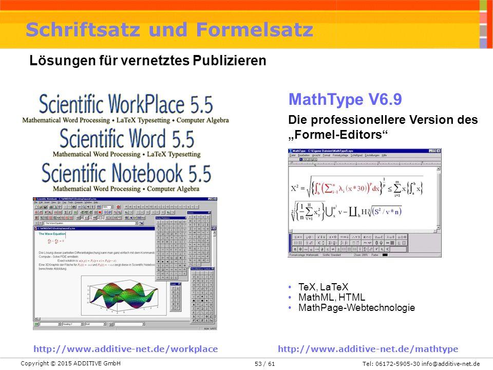 Schriftsatz und Formelsatz