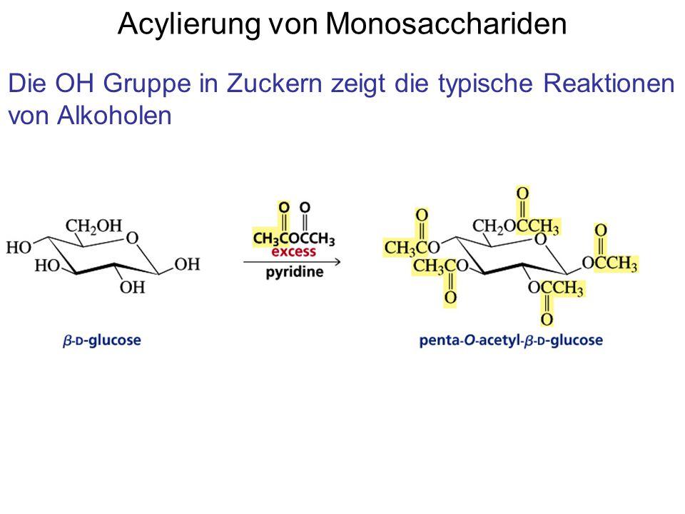 Acylierung von Monosacchariden