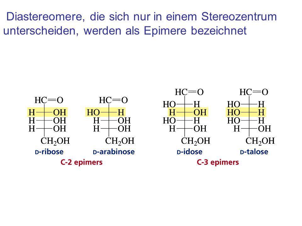 Diastereomere, die sich nur in einem Stereozentrum